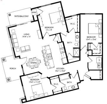 40-F  Three Bedroom